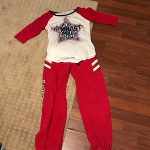Girls Justice outfit gymnast size 8